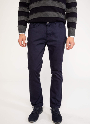 DeFacto Bruno Slim Fit Denim Pantolon Lacivert